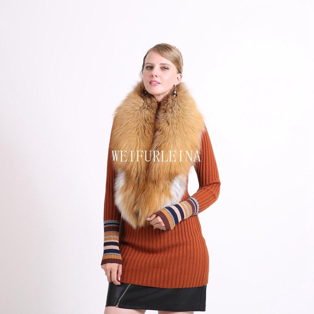 2018 Ring Fashion Solid Hot Sale Vinter 100% Natural Fur Shawl Luxury - Kläder tillbehör - Foto 5