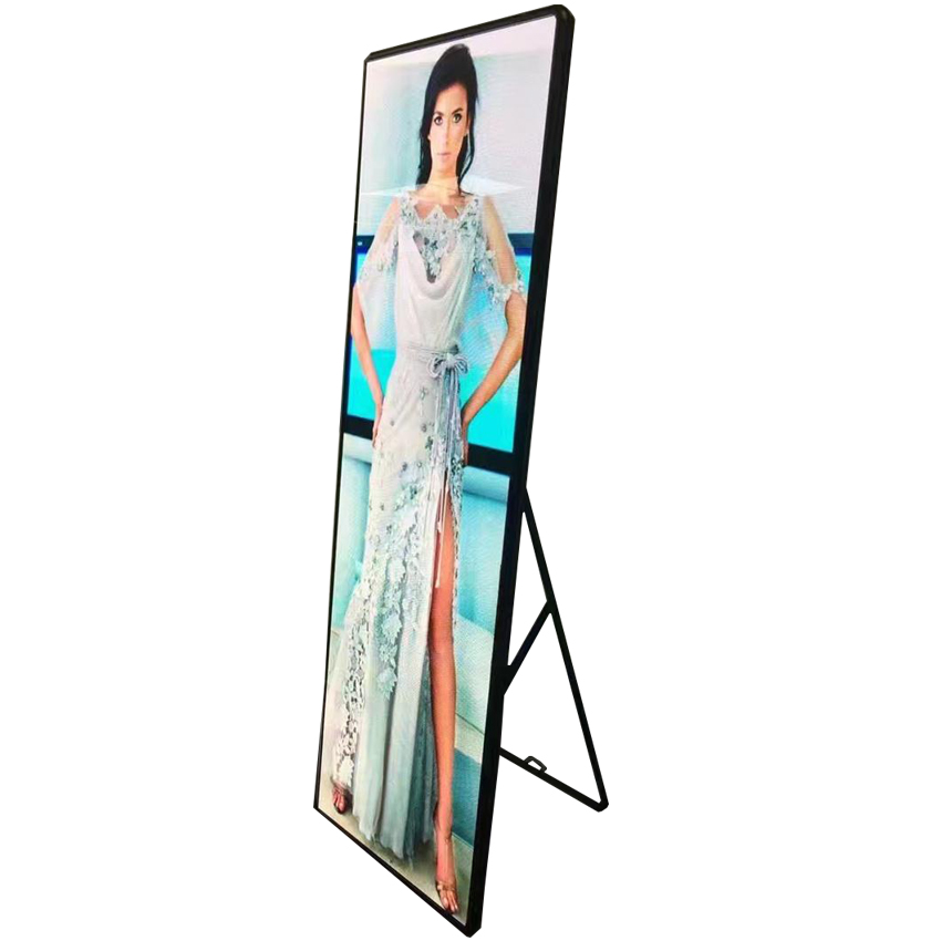 LED Poster 640*1920mm Screen P2.5 Indoor LED Advertising Machine  Magnetic Screw Universal Led Display Wall Player