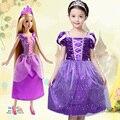 Fantasia Vestidos,2016 Children Kids Cosplay Dresses Rapunzel Costume Princess Wear Perform Clothes,Girl Dresses