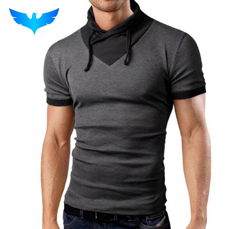 QINGYU Masculino Tops 2018 Camisa de Manga Curta T T-Shirt Dos Homens  Camisetas cor feitiço colarinho projeto Camiseta Homme Hombre Camisetas XXL 0fc16777a927c