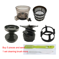 7x Fine filter & Screw propeller & Precursors Cup & Rotating brush frame & Precursor cover & cleaning brush for Hurom SBF11 etc