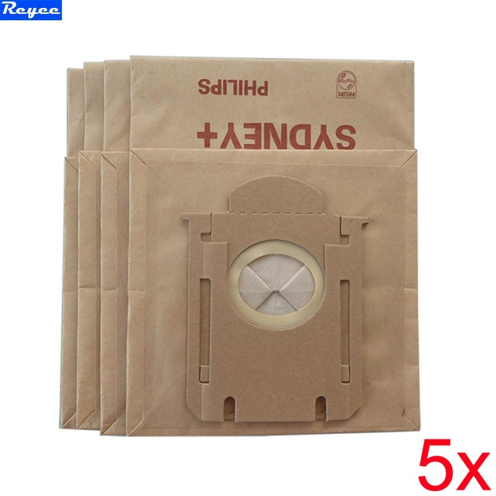 Hi-Q 5Piece / Lot High efficiency filter paper bag Vacuum Cleaner Dust Bag Suitable for Philips FC8396 8398 8202 HR8345 New