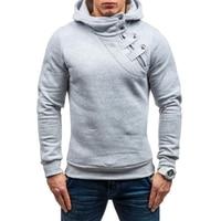 Brand 2017 Hoodie Soild Color New Stitch Zipper Hoodies Men Fashion Tracksuit Male Sweatshirt Off White