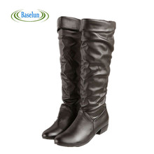 Fashion New Arrival Winter Mid-calf Women Boots Black White Brown Flats Heels Half Boots Autumn Snow Shoes Plus Size 43