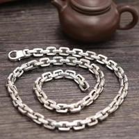 SOQMO цепи Цепочки и ожерелья подвеска 100% Настоящее серебро 925 пробы панк шириной 7 мм длиной Цепочки и ожерелья Мужчины тела fine jewelry аксессуары