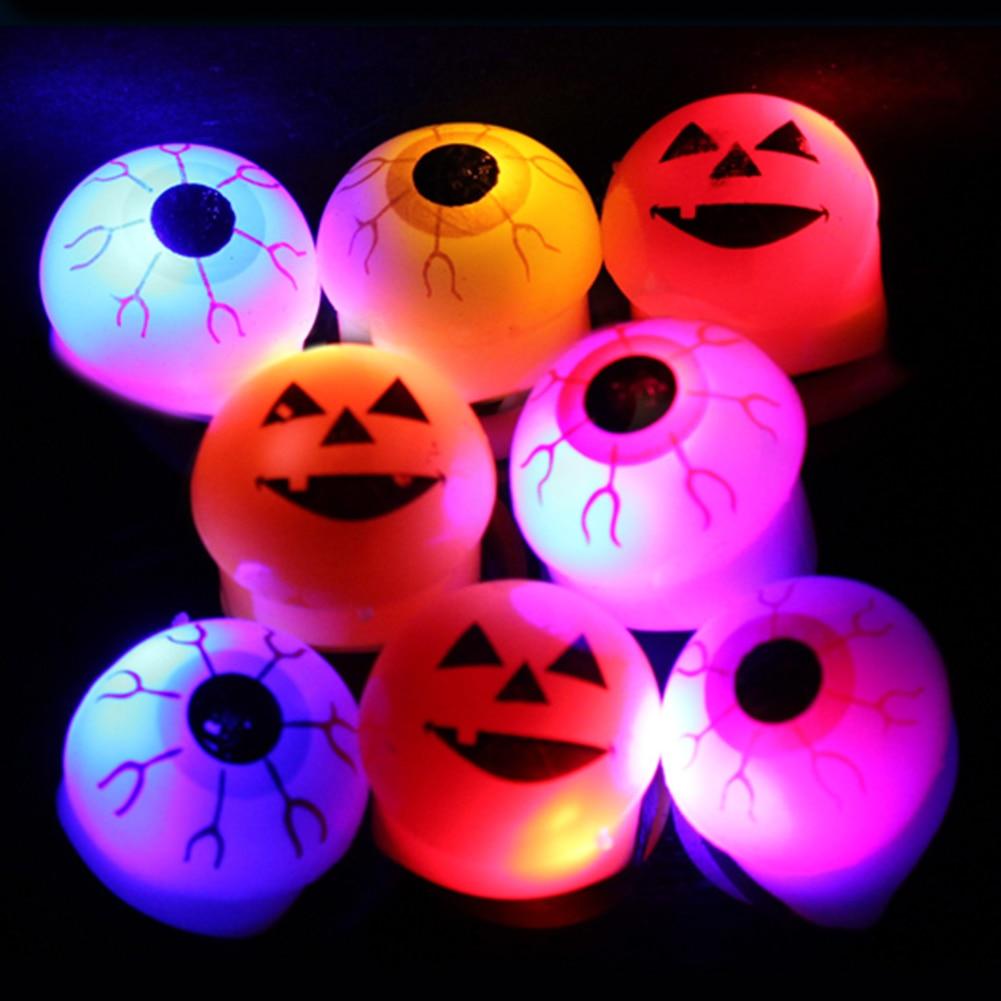 Holiday Lighting Nice Itimo Led Light Up Party Flashing Eyeball Pumpkin Skeleton Toy Gift Glow Light Soft Jelly Finger Ring Halloween Novelty