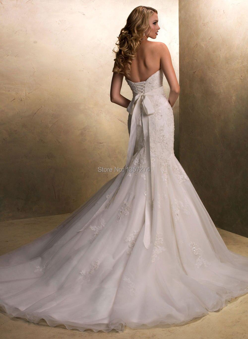 Hot Sale 2014 Fashion Cinderella Wedding Dresses Sweetheart Low Back ...
