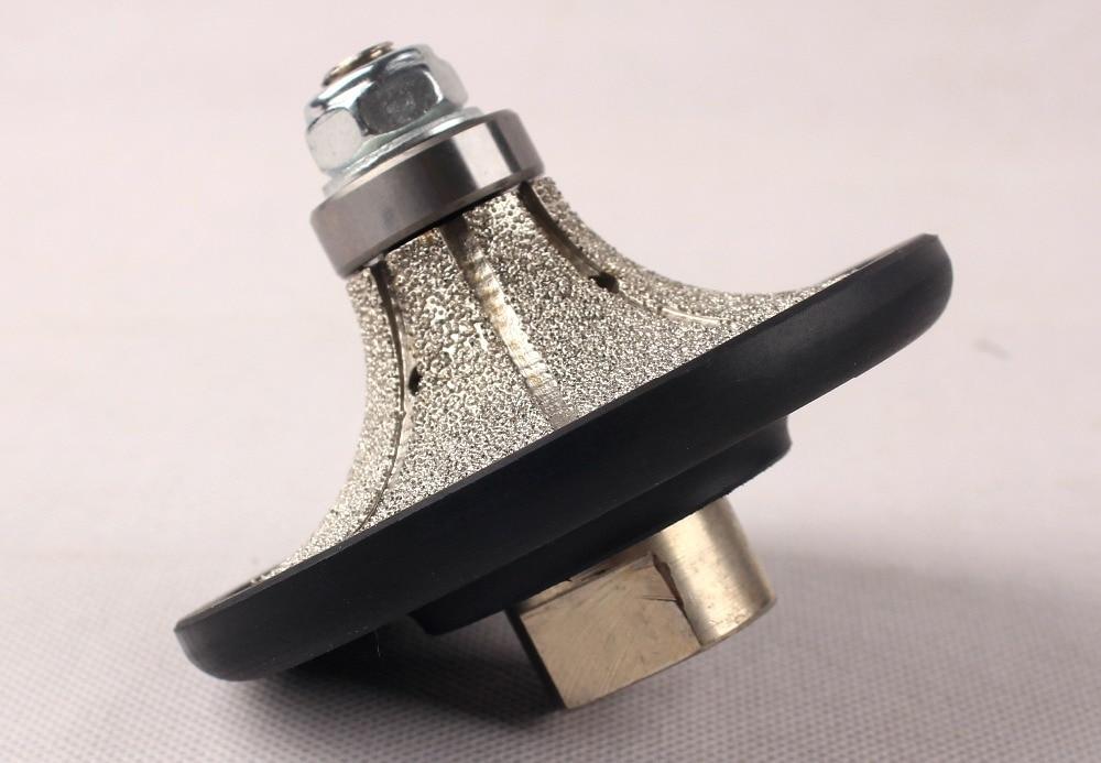 "Demi bullnose Vacuum Brazed Diamond Hand Profile Profiling wheel for Granite 5/8""-11"