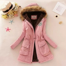 Women Winter Jacket Warm Faux Fur Hooded Causal Long Sleeve Coat Plus Size