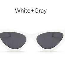 Gato sombra de ojos para las mujeres gafas de sol de moda mujer de marca vintage  retro triangular cateye gafas oculos feminino g. ab4c931290a4