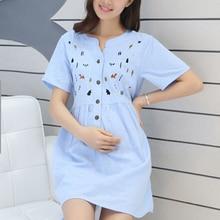 Fashion Chiffon Maternity Dress Comfortable Clothes for Pregnant Women Cute Summer dress