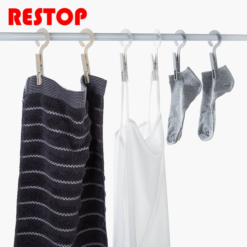 4pcs/set Clothes Pegs Food Clip Laundry Drying Hanger Storage Rack Memo Holder Multifunctional Clip RES943