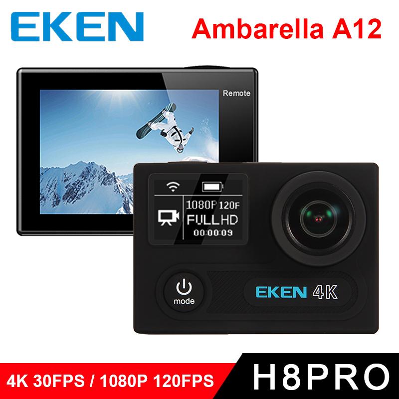 """Prix pour D'origine eken H8 PRO Ultra HD Camera Action avec Ambarella A12 puce 2.0 """"Écran 4 k/30fps 1080 p/120fps h8pro sport Caméra"""