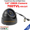 "1/4"" CMOS 700TV-Line Dome Home Security Camera 24 IR Led Night Vision CCTV Camera IRCUT Color Image IR Surveillance Camera"