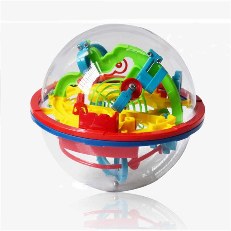 3D Intellect Puzzel Bal Doolhof Spel (Kleine Size/100 Niveau) voor Kids/Kinderen Educatief Metalen Speelgoed Houten Leren Creativiteit