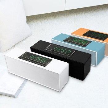 Dormitorio multiusos reducción de ruido Doble Tarjeta de altavoz Audio Metal inteligente Bluetooth reloj despertador electrónico altavoz estudiante