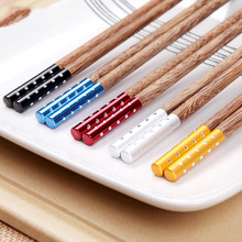Antiskid Natural Red Mahogany Solid Wood 5 Pairs Of Wooden Chopstick Reusable Chopsticks Sushi Japanese Chopsticks Chop Sticks yooap natural imported chicken wings wood red sandalwood yellow sandalwood chopsticks no paint no wax chopsticks ten pairs of
