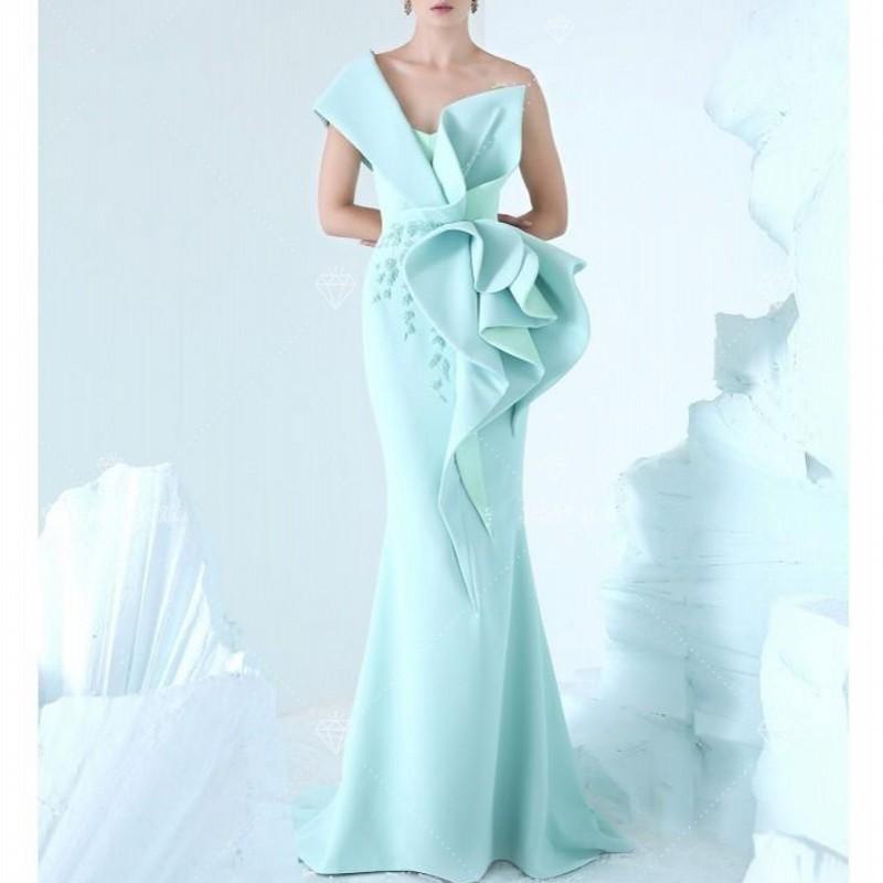 robe de soiree longue Rare Blue   Evening     Dresses   abiye Vestido De Festa Long Mermaid Lebanon Designer   Evening     Dress   Lace