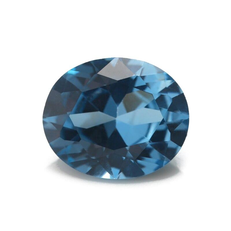Купить размер 3x5 ~ 10x12 мм синий овальной формы синтетический шпинель