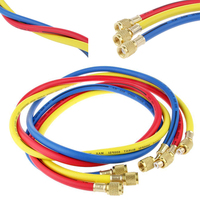 3pcs R134a R22 R410a Refrigeration Charging Hoses 1 4 SAE Female Manifold Gauge Set For Air
