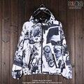 American punk fashion men fall wind motorcycle jacket windbreaker all-match Zip Hooded Jacket casual personality