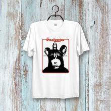 The Stooges garaje Punk Rock grupo Tee superior Unisex señoras Vintage camiseta B208 hombres camiseta