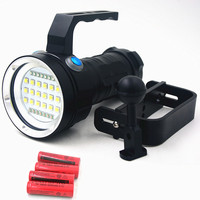 Underwater 80m Waterproof18*XM L2 LED Diving Video Tactical Rechargeable Flashlight Light For Submarine Photography