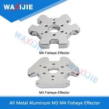 купить Delta Kossel M3/M4 Fisheye Efforter Aluminum All Metal Hammock Hanging Station For V5 V6 Extruder J-head Hotend 3D Printer Parts по цене 526.91 рублей