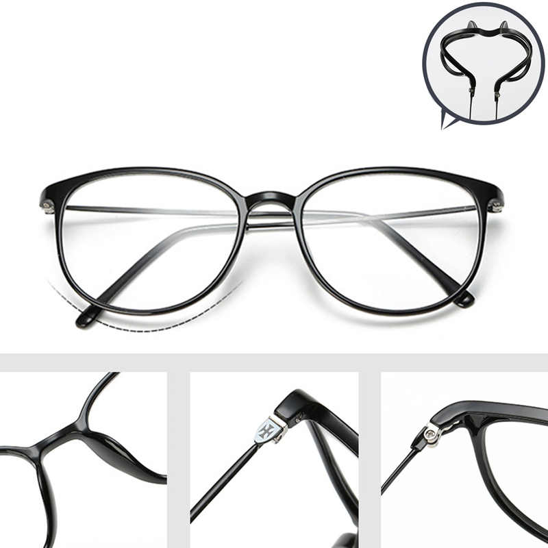 c95f79a23c565 Optical Glasses Frame Vintage Oversized Horn Rimmed Clear Lens Round Circle  Glasses Non Prescription Glasses Frames