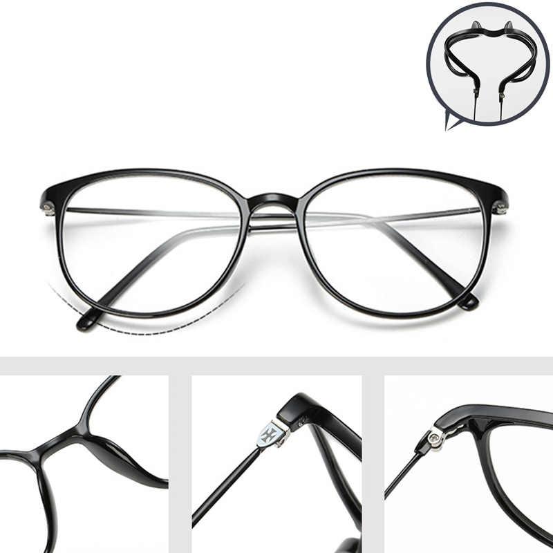 0fc6aa2570f Optical Glasses Frame Vintage Oversized Horn Rimmed Clear Lens Round Circle Glasses  Non Prescription Glasses Frames