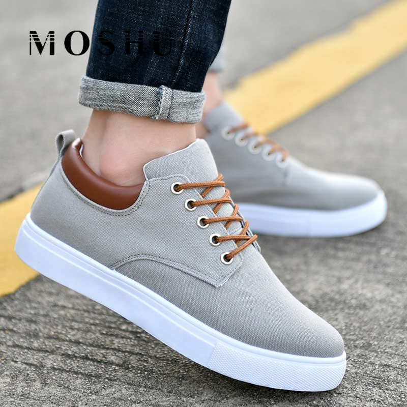 Sneakers Men Canvas Shoes Trainers White Sneakers Lace-up Casual Shoes Tenis Masculino Adulto Summer Footwear Zapatos De Hombre
