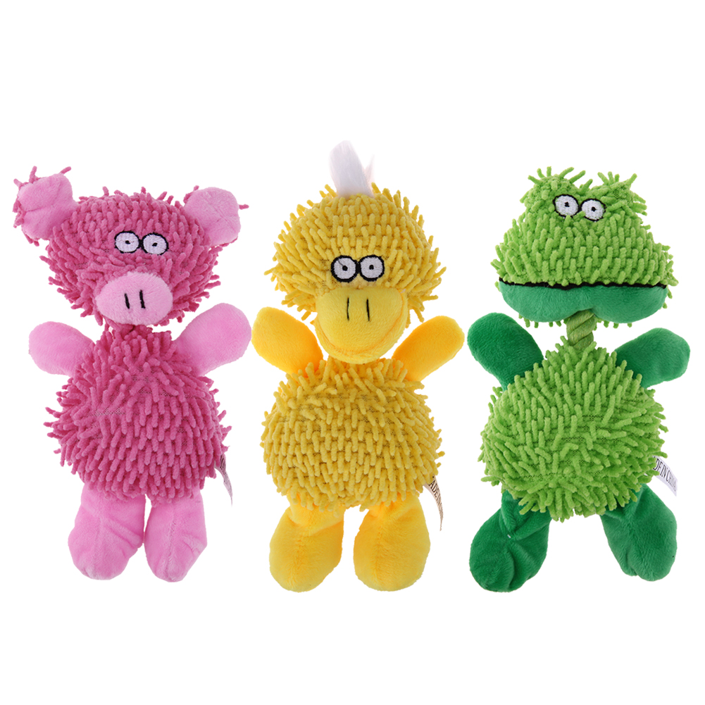 Animal Shape Pet Dog Funny Playing Toy Pet dog Lovely Voice Toys Sound Toy Chew Squeaky Toys for Tooth Cleaning Duck/Pig/Duck