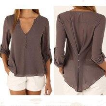 Chiffon shirt Summer Fashion Girl Chiffon Long Sleeve Shirt Women Summer Clothing Blusas Tops multicolor
