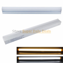 100pic/lot PVC T5 neon LED fluorescent Tube Light Lampada 30cm 60cm Integrated 0.3m 6W 0.6m 10W Light Lamp AC110V220V 240V White