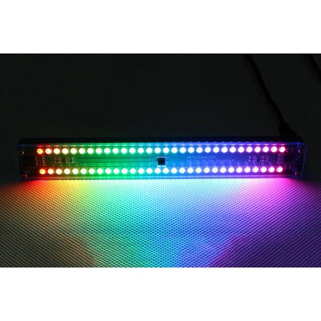 כפול 30 רמת מחוון צבעוני מוסיקה אודיו ספקטרום מחוון סטריאו מגבר VU מטר מתכוונן אור מהירות עם AGC