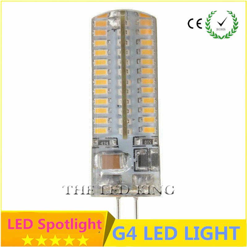 G4 светодиодный свет лампы 24 SMD 2835 энергосберегающие лампы 3 Вт 5 Вт 9 Вт 15 Вт 21 Вт AC/DC 220 V 500-560LM холодный белый 360 Угол луча из силикагеля