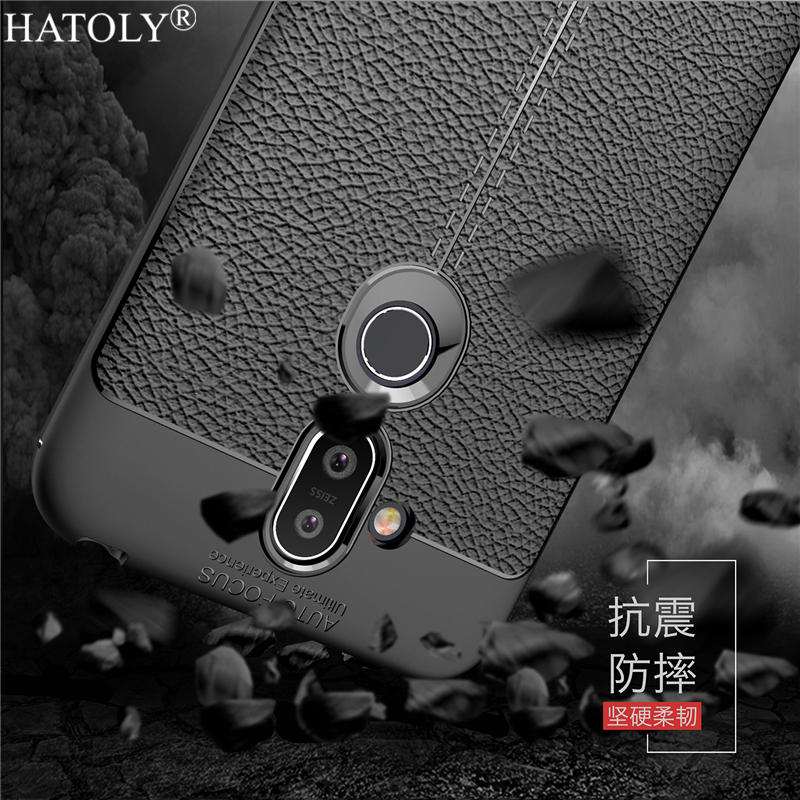 For Cover Nokia 8.1 Case Rubber Silicone Armor Soft TPU Style Case Protective Phone Case for Nokia 8.1 Cover for Nokia 8.1