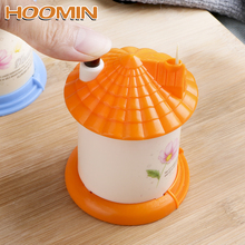 HOOMIN Creative Toothpick Box Automatic Toothpick Holder  Portable Fashion Lovely Random Color House Shaped цена 2017
