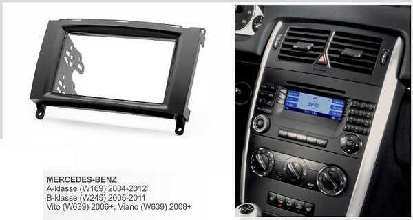 Переходная для MERCEDES BENZ A класса W169 B класс W245, Вито, виано, W639 Радио DVD стерео компакт-дисков Панель Даш Комплект отделка лицевой панели Лицевая панель