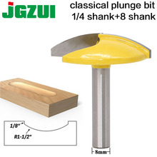 """1PC 8mm Shank Small Bowl Router Bit   1 1/2"""" Radius   1 3/4"""" Wide door knife Woodworking cutter RCT"""
