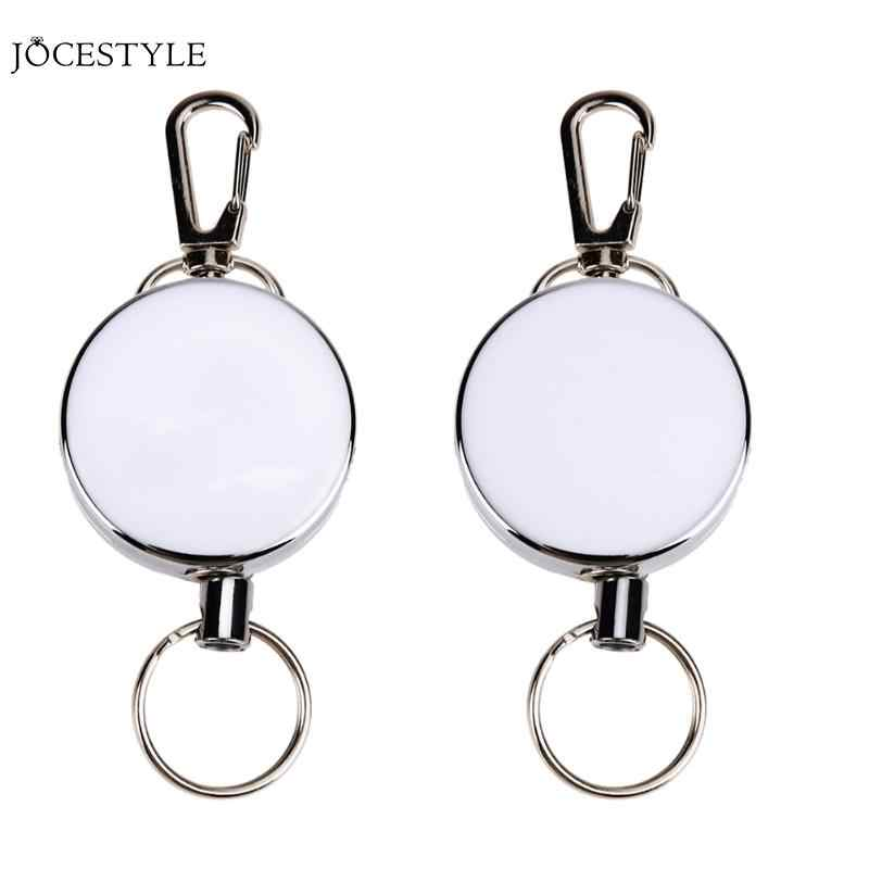 Retractable Key Chain High Resilience Stretching Rope Key Chain Anti-lost Ring Burglar Trinket Keychain Outdoor Safety Buckle