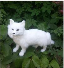 WYZHY Simulation white fox fur animal garden home decoration 35X22CM