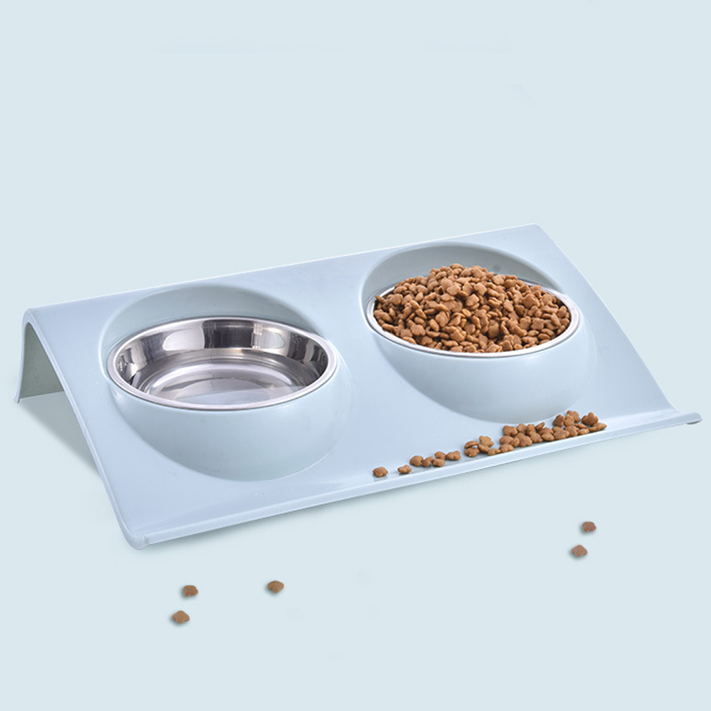 Thicken Pet Food Bowl Stainless Steel Double Pet Bowls Food Water Feeder for Dog Puppy Cats Pets Supplies Feeding Dishes 4