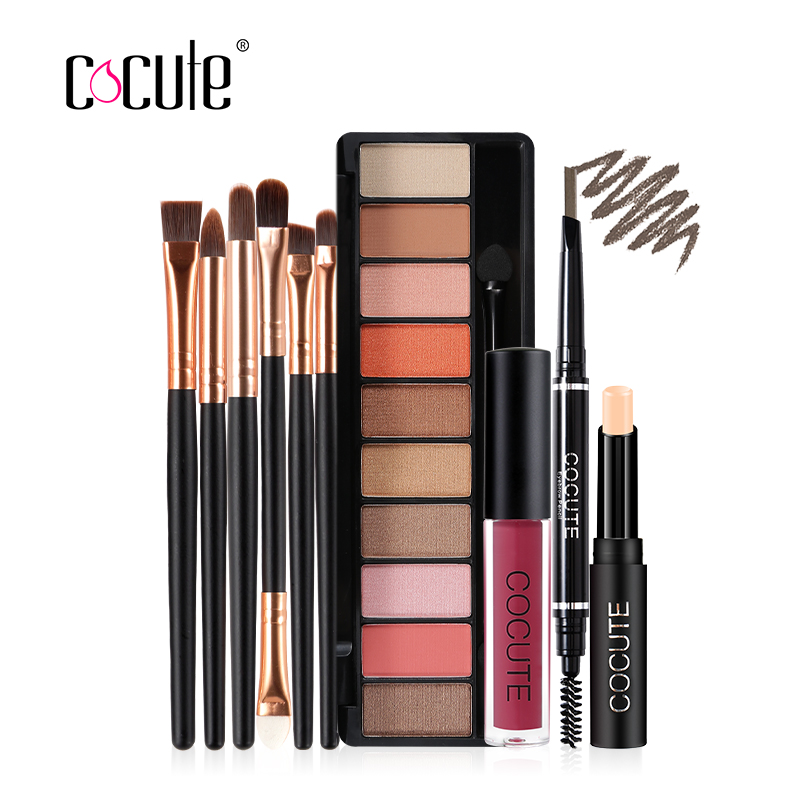 Cocute Makeup Sets 5 PCS Including Makeup Eyebrow Concealer Lip gloss Eyeshadow Brush fo ...