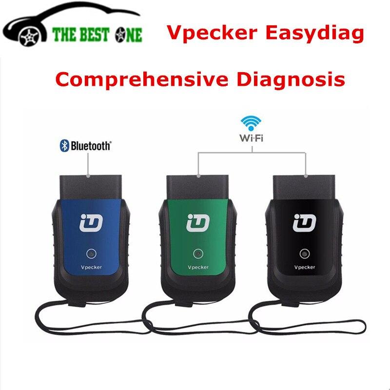 Prix pour Auto complète Outil de Maintenance Vpecker Easydiag Wifi/Bluetooth Vpecker V9.0 Mise À Jour Gratuite OBD2 Diagnostic Scanner Bateau Libre