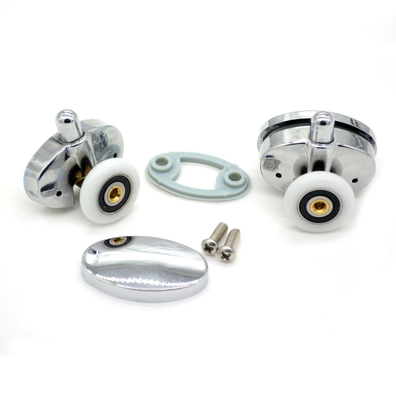 Set von 8 neue Oval schmetterling einzelnes rad duschtür rollen 23mm 25mm in Set von 8 neue Oval schmetterling einzelnes rad duschtür rollen 23mm 25mm aus