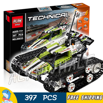 397pcs Techinic 2in1 Remote Controlled RC Tracked Racer 20033 Figures Cars Building Kit Blocks Gift Toys Compatible With LagoING