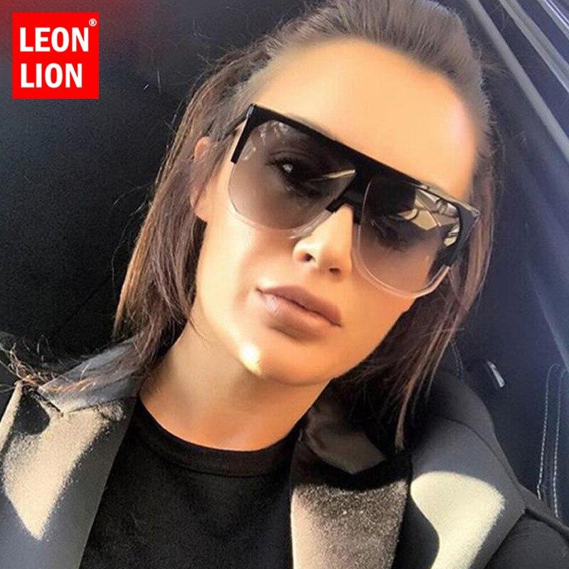 LeonLion 2020 yaz güneş gözlüğü kadın Retro kare degrade büyük boy güneş gözlüğü moda açık Oculos De Sol Feminino UV400