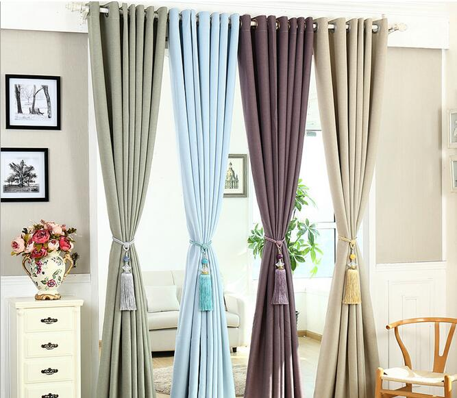 High Quality Simple Modern Type Pure Color Linen Window