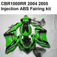 Green black Fairings For HONDA Cbr1000rr 2004 2005 ( 100%suit ) cbr 1000rr 04 05 Injection molding Fairing kit Ca66